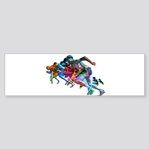 Super Crayon Colored Sprinters Bumper Sticker