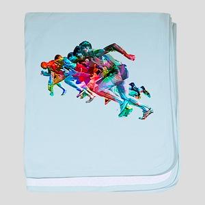 Super Crayon Colored Sprinters baby blanket
