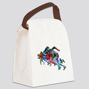 Super Crayon Colored Sprinters Canvas Lunch Bag