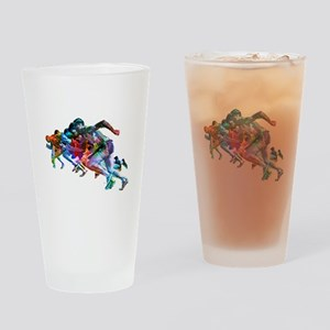 Super Crayon Colored Sprinters Drinking Glass