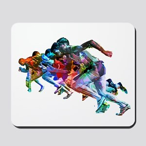 Super Crayon Colored Sprinters Mousepad