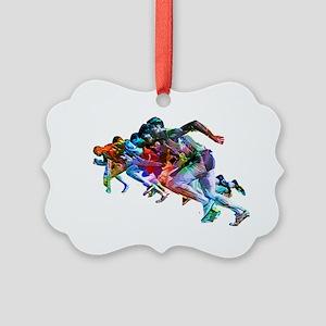 Super Crayon Colored Sprinters Picture Ornament