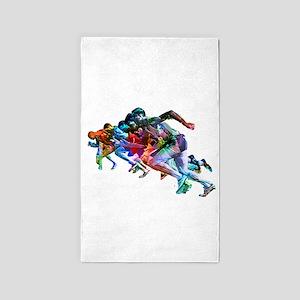 Super Crayon Colored Sprinters Area Rug