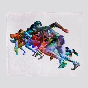 Super Crayon Colored Sprinters Throw Blanket
