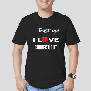 Trust me I love Connec Men's Fitted T-Shirt (dark)