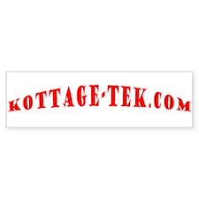 kottage-tek.com red Bumper Sticker