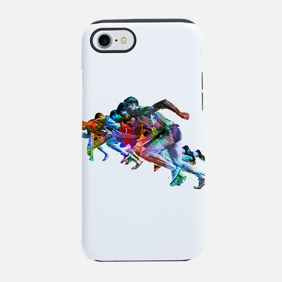 Super Crayon Colored Sprinters iPhone 7 Tough Case