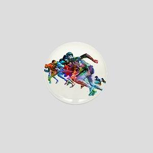 Super Crayon Colored Sprinters Mini Button