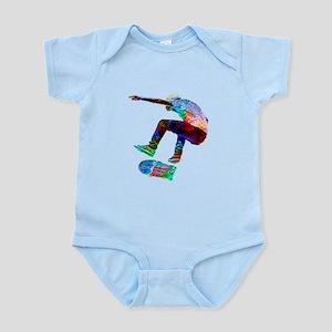Super Crayon Colored Silhouette Skateboa Body Suit