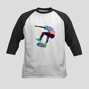 Super Crayon Colored Silhouette Sk Baseball Jersey