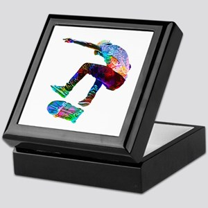 Super Crayon Colored Silhouette Skate Keepsake Box