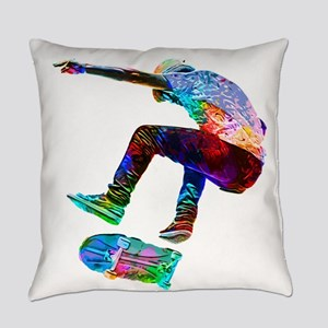 Super Crayon Colored Silhouette Sk Everyday Pillow