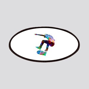 Super Crayon Colored Silhouette Skateboarder Patch