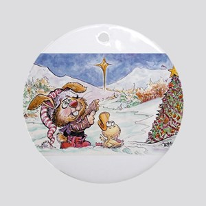 Bunny and Duck Ornament (Round)