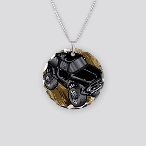 Monster Classic Truck Necklace Circle Charm