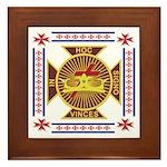 The Templars Framed Tile