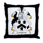 Langdon Family Crest Throw Pillow