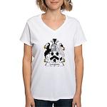Langdon Family Crest Women's V-Neck T-Shirt