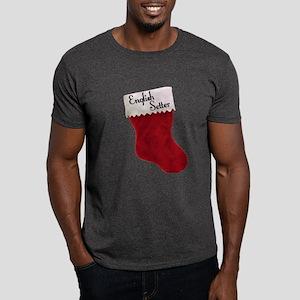 English Setter Stocking Dark T-Shirt