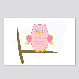 Owl (pink) Postcards (Package of 8)