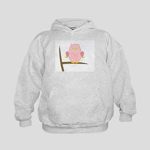 Owl (pink) Kids Hoodie