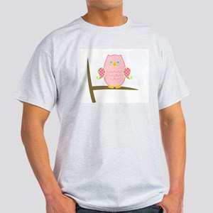 Owl (pink) Light T-Shirt