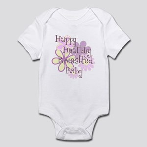 Happy Healthy Breastfed Baby Infant Bodysuit
