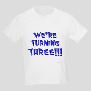 were_turning_three_blue T-Shirt