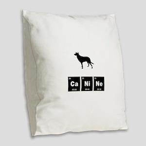 Smooth Collie Burlap Throw Pillow