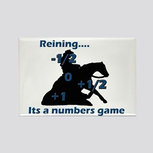 Reining is a numbers game Rectangle Magnet