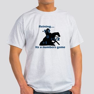 Reining is a numbers game Ash Grey T-Shirt