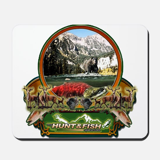 my hunt and fish space.com  Mousepad