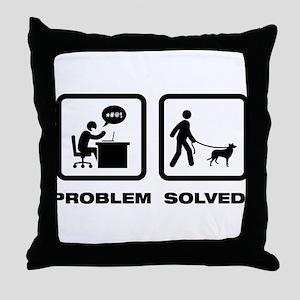 Smooth Collie Throw Pillow