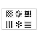 Baby Visual Stimulation Rectangle Sticker
