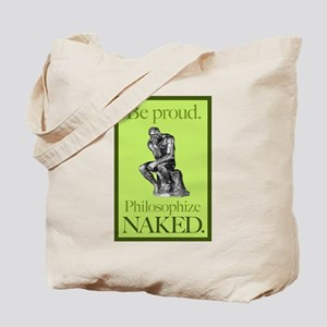 Philosophize Naked Tote Bag