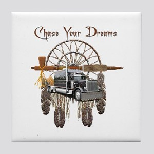 Chase Your Dreams Tile Coaster