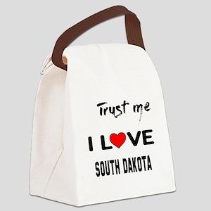 Trust me I love South Dakota Canvas Lunch Bag