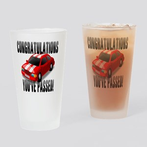 Congratulation, You've Passed Drivi Drinking Glass