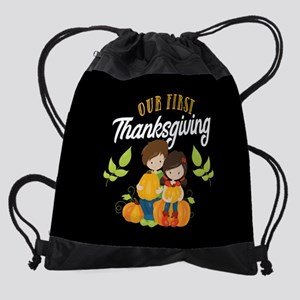 Our 1st Thanksgiving Drawstring Bag