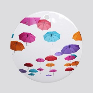 Umbrella sunshade parasol pattern Ornament (Round)