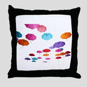 Umbrella sunshade parasol pattern des Throw Pillow