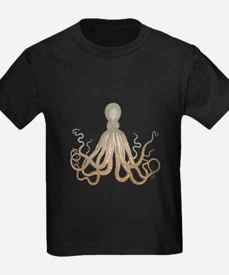 Vintage Octopus Etching T-Shirt