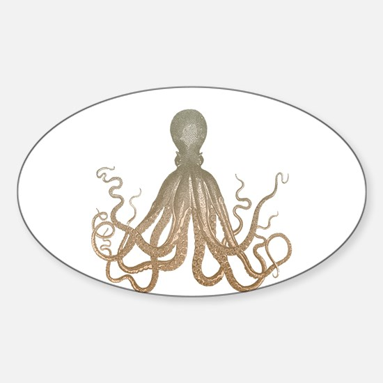 Vintage Octopus Etching Decal
