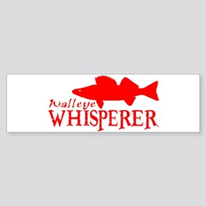 WALLEYE WHISPERER Bumper Sticker