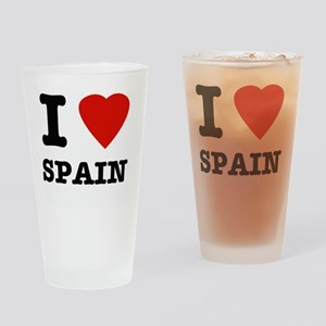 I love Spain Drinking Glass