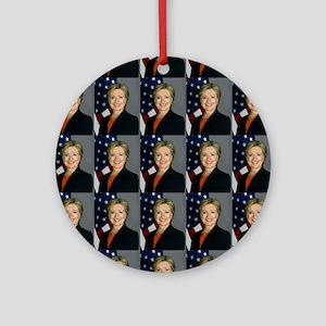 hillary clinton Round Ornament