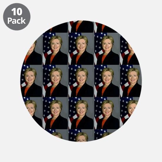 "hillary clinton 3.5"" Button (10 pack)"