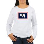 Wyoming State Flag Women's Long Sleeve T-Shirt