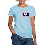 Wyoming State Flag Women's Light T-Shirt