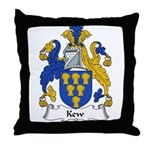 Kew Family Crest Throw Pillow